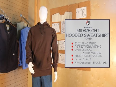 Mid weight Hooded Sweatshirt Product Video M708T