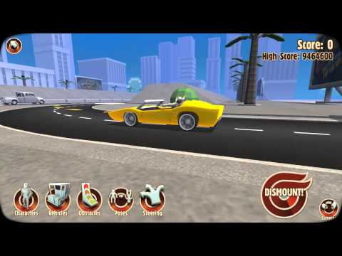 Turbo Dismount Walkthrough - Skid Marks by whybeare Game Video