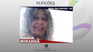 VÍDEO: Maria Miranda Eleições Alto Tietê 2020 Rede Livre