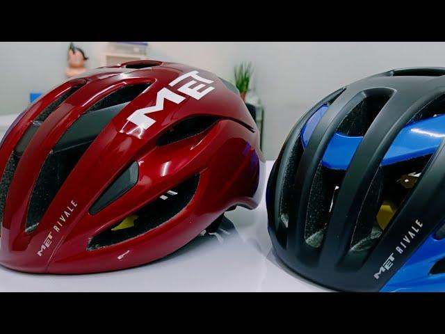 Видео Шлем MET Rivale MIPS Black Blue Metallic (matt/glossy)