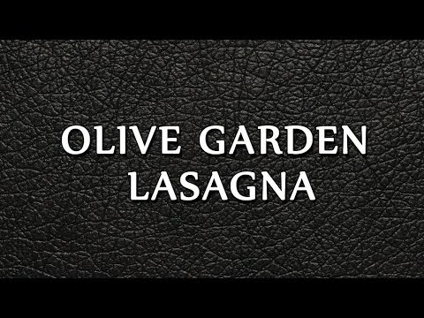 Olive Garden Lasagna | RECIPES | EASY TO LEARN