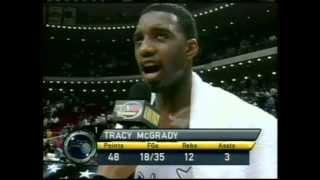 Tracy McGrady 48 Pts,12 Reb, Season 2002, Magic Vs Bucks