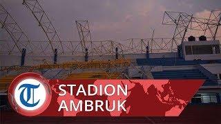 Atap Stadion Arcamanik Bandung Ambruk Akibat Angin Puting Beliung, Tim Marching Band Sempat Terjebak