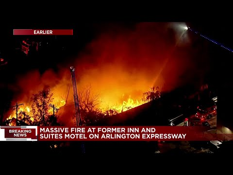 EXTENDED COVERAGE: Commercial building in Arlington goes up in flames