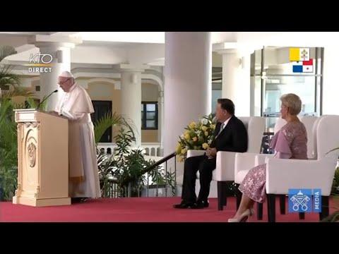 Rencontre du pape François avec les autorités du Panama
