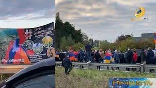 Հայերը փակել են Եվրոպայի գլխավոր միջպետական մայրուղիները՝ ի նշան Ադրբեջանի և Թուրքիայի դեմ բողոքի