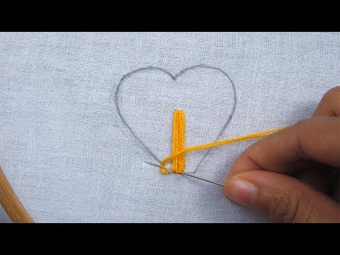 Hand Embroidery, Easy hand embroidery,love embroidery