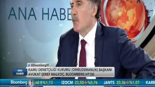 Kamu Başdenetçisi Şeref Malkoç'un Bloomberg HT TV'deki Konuşması