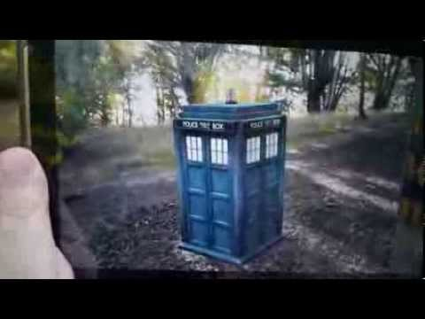 Video of Doctor Who AR Tardis