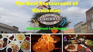 Best Restaurants of Kissimmee! WIN FREE CERTIFICATES!