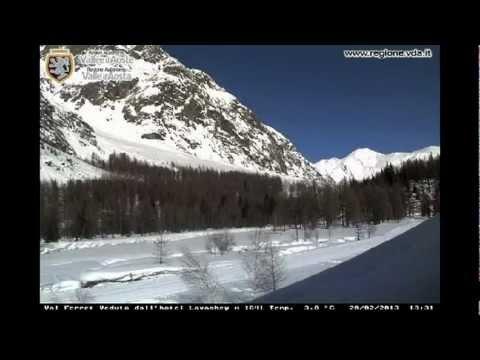 Courmayeur - Val Ferret - Timelapse Febbraio 2013