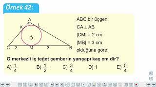 Eğitim Vadisi 11.Sınıf Matematik 12.Föy Çember ve Daire 5 (Çemberde Açılar ve Uzunluk) Konu Anlatım Videoları