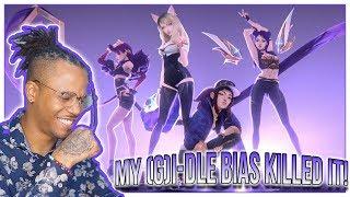 Reacting To (G)I-DLE - K/DA - POP/STARS (ft Madison Beer Jaira Burns) | MV - League of Legends