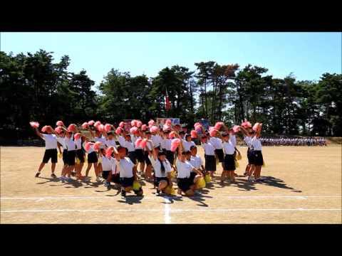 岩船中学校 体育祭 紅軍 応援合戦@2016.09.03