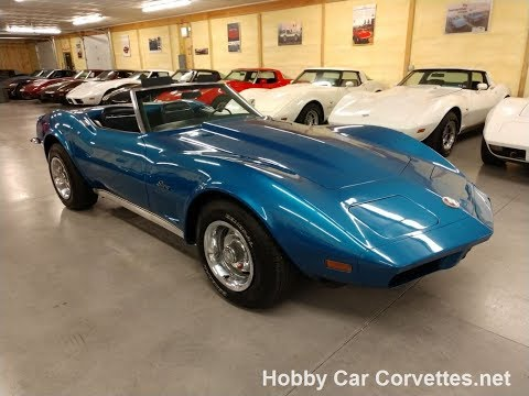 1973 Medium Blue Corvette Stingray Convertible Video