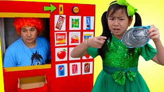 Jannie Pretend Play with Vending Machine Food Toy Story for Kids