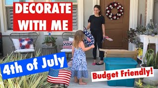 DECORATE WITH ME for 4th of July | Budget Friendly decorating ideas