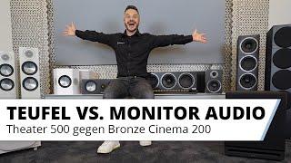 Lautsprecher Vergleich: Teufel Theater 500 Surround 5.1 gegen Monitor Audio Bronze Cinema 200 Set