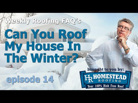 A common question people have is whether or not their roofing project can be done in the winter.