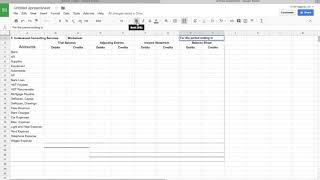 8 - Column Worksheet