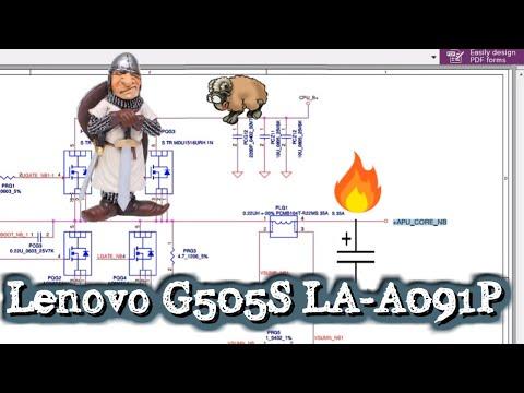 Ремонт ноутбука LENOVO G505S LA-A091P не включается , нет изображения