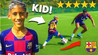 I Challenged a KID Footballer To a PRO Football Competition (8 YEAR OLD MESSI)
