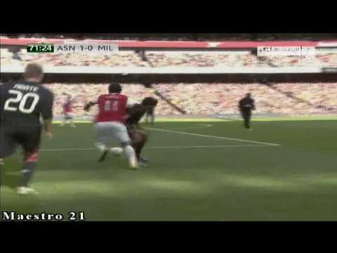 Highlights AC Milan 1-1 Arsenal 31-7-2010
