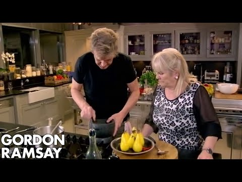 Chilli Poached Pears with Star Anise Dust | Gordon Ramsay