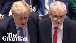 Boris Johnson and Jeremy Corbyn clash over climate change