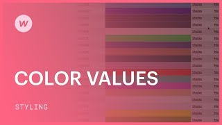 Color values (hex, rgba, and color names) - Webflow CSS tutorial