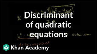Discriminant of Quadratic Equations