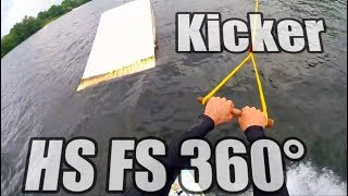 #4 Cablepark Wakeboard Intermediate – Kicker HS FS 360 tutorial