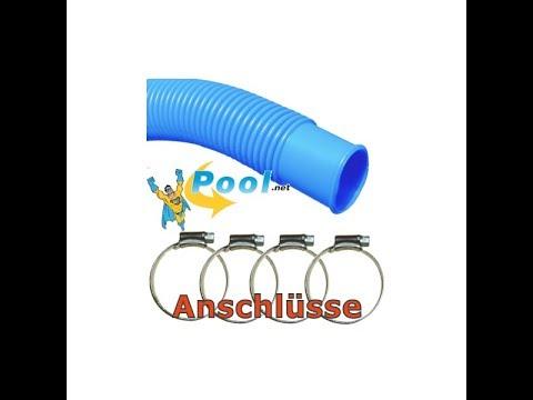 Pool-Anschluss-Set verbinden des Skimmer und Einlaufdüse mit der Sandfilteranlage beim Stahlwandpool