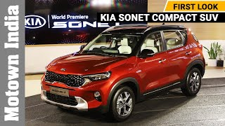 Kia Sonet compact SUV global unveiling | First Look | Motown India