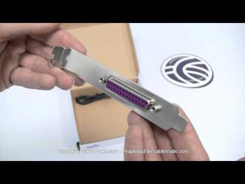 Adaptador USB a puerto paralelo de tipo tarjeta interna distribuido por CABLEMATIC ®