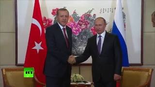 На встрече с Эрдоганом Путин пошутил про главу турецкой разведки