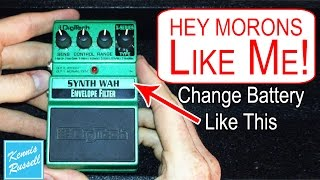 How To Change The Battery In A Digitech Guitar Pedal