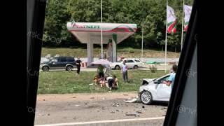 Сразу шесть автомобилей попали в ДТП 16.07.2018 под Новороссийском