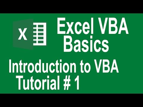 Excel VBA Programming Basics Tutorial # 1 | Introduction to VBA | Writing Our First Macro