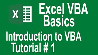 excel vba programming Basics Tutorial # 1 | Writing Our First Macro