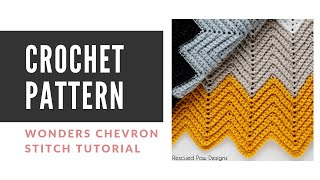 Wonders Chevron Blanket Crochet Pattern