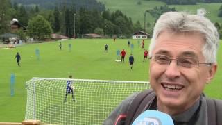 Een van de Feyenoord-supporters in Oostenrijk is de Hongaar Levente Hidán.