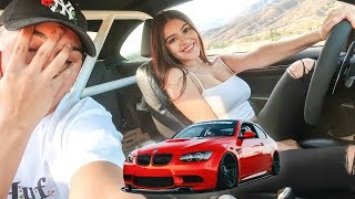 I LET HER DRIVE MY BMW M3!! (BAD IDEA... ALMOST CRASHED)