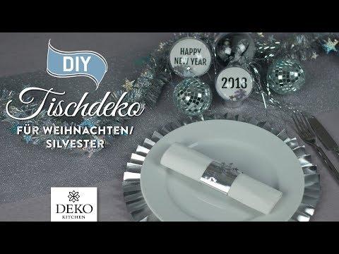 DIY: edle Silvester-Tischdeko günstig selbermachen [How to] Deko Kitchen