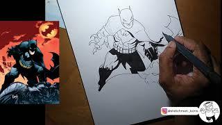 #5 Greg Capullo Style BATMAN Speed Drawing