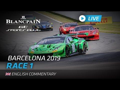 【レース配信動画】ブランパンGT バルセロナ Race1