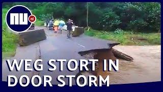 Storm Dorian breekt weg op Franse Antillen open   NU.nl
