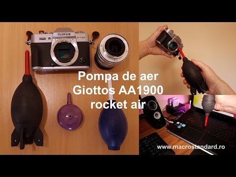 Prezentare Pompa de aer Giottos AA1900 (rocket air) pentru suflat praful de pe aparatul foto