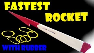 The Fastest paper Rocket in the world with rubber power! Must See