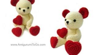 Amigurumi Valentine Teddy Bear Part One